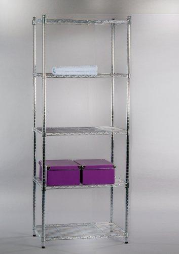 44215C5 Regal, Metallregal, Schuhregal, Bücheregal 5 Böden verstellbar 60 cm (5-regal Bücherregal Verstellbar)