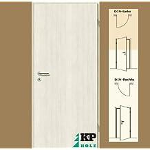 CPL Zimmertür Tür Türen Innentüren Pinie weiß RSP DIN links / 16,5 cm