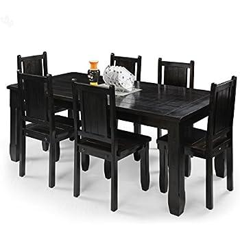 Royal Oak Jade Six Seater Dining Table Set Mahogany