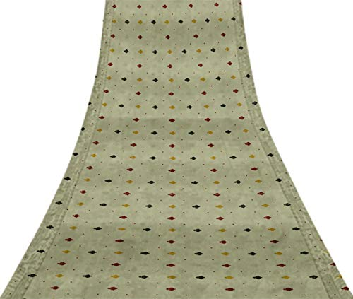 Svasti butidar Jamdani Vintage Sari Refurbished blutrot 100% reine Seide gedruckt Craft Stoff 1 Yard -