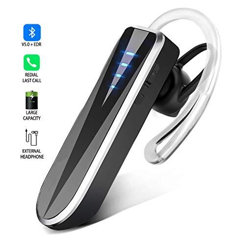 Telefon Wireless Mic (Bluetooth Headset, Handy Freisprech Kopfhörer Binaurales Stereo Drahtlose In-Ear Ohrhörer mit 24 Stunde Spielzeit, Auto Bluetooth Hörmuschel mit Noise Cancelling Mic. für iPhone Samsung Android)