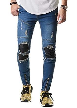 eightyfive herren jeans hose denim slim fit zerrissen. Black Bedroom Furniture Sets. Home Design Ideas