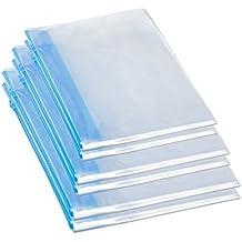 6 Bolsas de Vacío Enrolladas a Mano de Almacenaje, Impermeable, Perfecto para Guardar Ropa, Toalla, Almacenamiento de Viajes (azul)