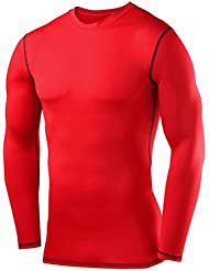 PowerLayer Herren Kind Funktionsunterwäsche Kompressionsshirt Armour Compression Top Skins Langarm - Rundhalsausschnitt