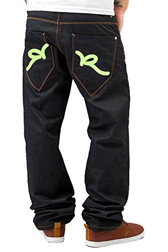 Rocawear Raw Japan Denim Baggy Loose Fit Boys Jay z Rap Jeans   Dark Blue - 41c6c964a
