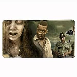 Hairyworm the walking dead sony xperia z coque de protection arrière rigide en plastique pour téléphone portable
