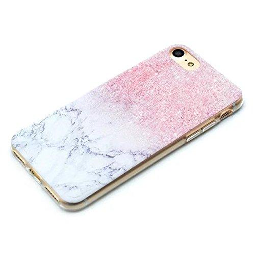 Etsue Doux Protecteur Coque pour iPhone 6 Plus/6S Plus,Silicone TPU Matériau Frame est Transparent Soft Cover pour iPhone 6 Plus/6S Plus,Coloré Motif par Dessin de Mode Case Coque pour iPhone 6 Plus/6 marbre