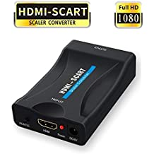 HDMI to SCART Converter, GANA 1080P HDMI to SCART Adapter to play HDMI source signal on CRT TV, VHS VCR, DVD recorder etc.
