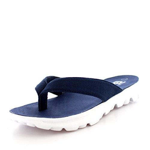 Get Fit Donna Infradito Leggero Estate Ciabatte Infradito A Passeggio Sports Sandali Scarpe Bianco/Marina/Marina