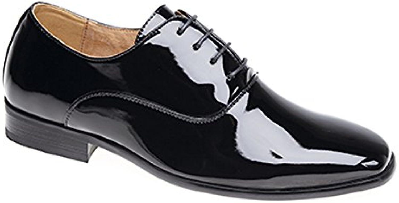 les hommes noirs du soir / brevet uniforme oxford chaussure cravate chaussure oxford idéale pour le bal de fin d'année - Noir  - taille uk   taille 10 bc4802