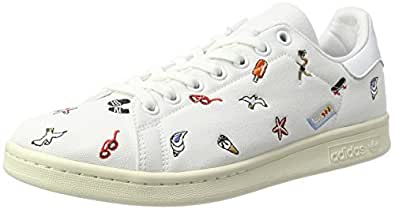 adidas Damen Stan Smith Sneaker, Weiß (Footwear White/Footwear White/Off White), 42 EU