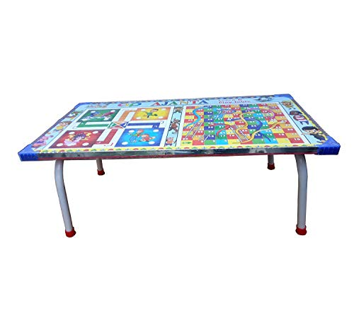 Babyjoys Multi-Purpose Colour Foldable Wooden Study ; Bed Table (Multicolour)