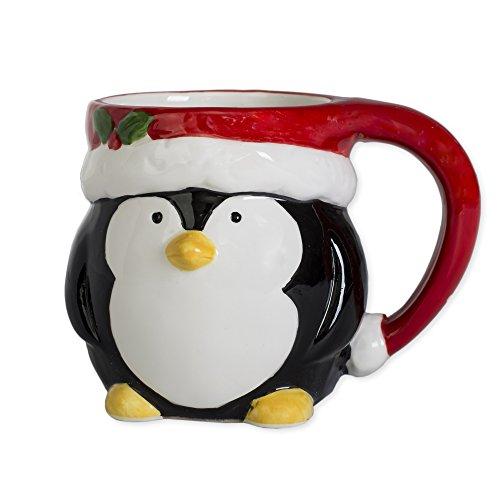 Kaffeetasse mit Pinguin-Motiv, 312 Unzen aus Keramik, Dolomit, Weihnachtsstimmung -