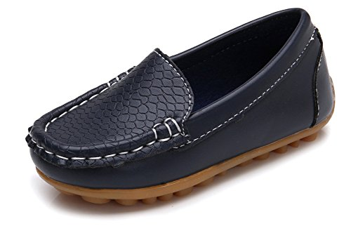 Odema Summer Toddler Boys Girls Moccasin Soft Split Leather Loafer Slip-On Boat Shoes