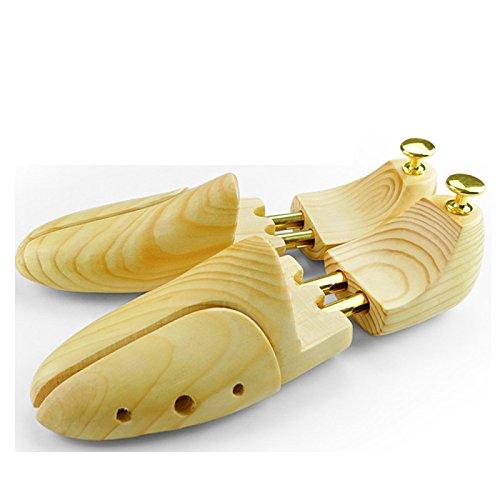 DSFGHE Schuhspanner Paar Zwei-Wege-Schuh Baum Holz Einstellbare Länge Und Breite Boot Bäume,Pine-L(41-42) - Holz-boot-bäume