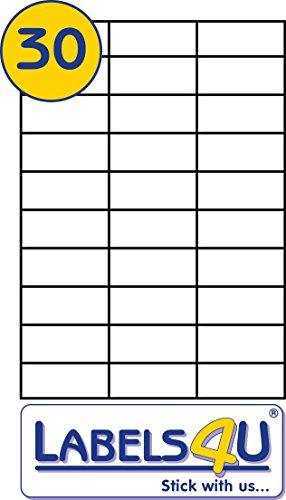 30 pro Seite, Blech, 20 Blatt, Avery 3489 &Avery DPS30 kompatibel, Weiß (Multi Funktion,...
