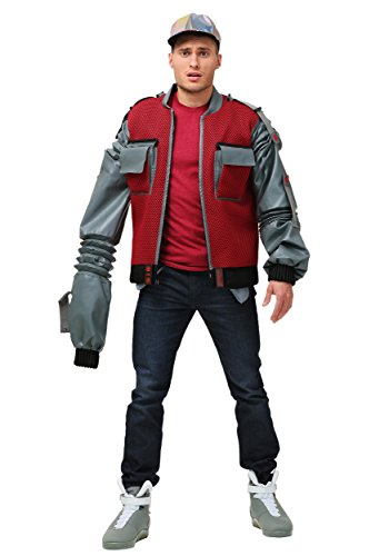 Marty Jacke Mcfly Kostüm - Fun Costumes Authentische Marty McFly Jacke - XL