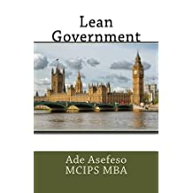 Lean Government by Ade Asefeso MCIPS MBA (2014-11-24)