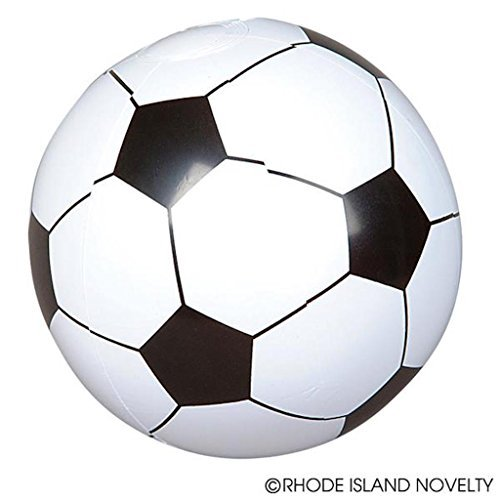 ußball Inflatable Weiß Schwarz Fußball Bälle (1DZ) ()