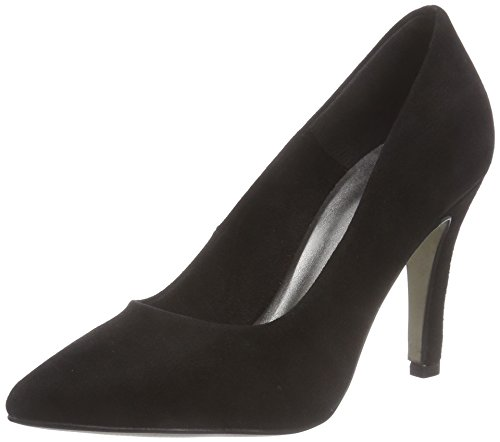 Tamaris 22432, Decolleté chiuse donna, Nero (Schwarz (Black Suede 004)), 38