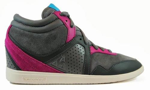 C3498 sneaker alta donna LE COQ SPORTIF MONGE scarpa grigio/fucsia shoe woman Grigio/Fucsia