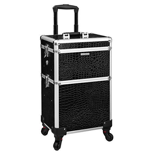 Songmics® Trolley Make up Beauty Case Nail Art Valigia Cofanetto Porta gioie smalti oggetti JHZ03B