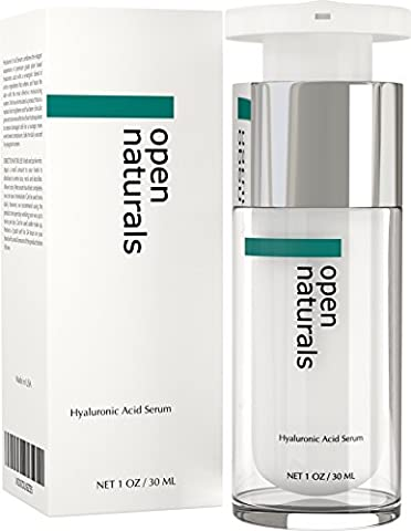 Open Naturals Hyaluronic Acid Skin Serum - The Best Anti Ageing & Anti Wrinkle Serum - This Premium Organic Serum Will Plump, Hydrate & Brighten Skin While Filling In Those Fine Lines & Wrinkles - It Works or Your Money Back