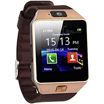 Celestech WS02 with SIM, 32 GB MEMORY CARD SLOT, BLUETOOTH and FITNESS TRACKER Smartwatch (Brown Strap)