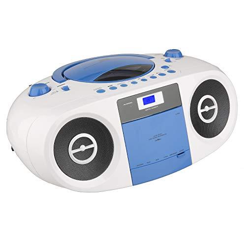 Terris RRC 243 Stereo Radiorekorder Kasette CD MP3 Kopfhöreranschluss (Blau) (Cd-player Touch)