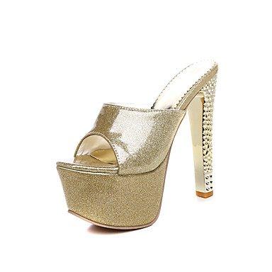 LFNLYX Donna pantofole e flip-flops Estate Slingback Comfort PU party di nozze & abito da sera Stiletto Heel Red Silver Gold rose rosa a piedi Gold
