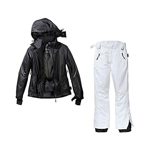 Skianzug 2tlg. Funktioneller Skianzug Für Damen Gr. 44 M-25 Farbe. Schwarz-Weiß Schneeanzug