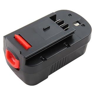 Mitsuru® 3000mAh 18V Ni-MH Battery for Black-&-Decker BD BD18PSK BDGL1800 BDGL18K compatible with Black & Decker 244760-00 B-8317 BD-1834L BPT1049 FS180BX FS180X FSB18 HPB18 HPB18-OPE