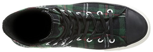 Converse, All Star Hi Textile, Chaussures De Tennis, Unisexe - Adulte Green Tartan
