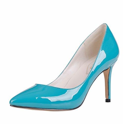 EKS , Escarpins femme Bleu - Blau-Lackleder-B