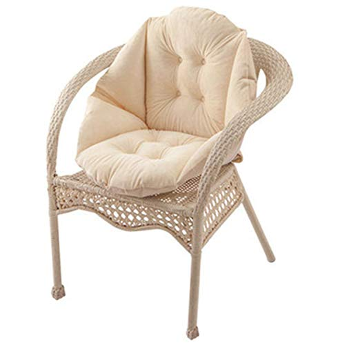 HB.YE Cojín para sillas de jardín, Cojín del Asiento con Respaldo, Cojines Decorativos para el hogar...