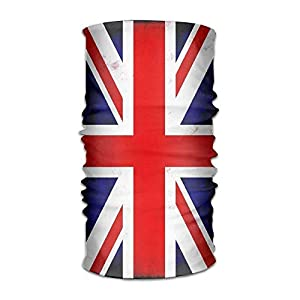 jiantsk Unisex Stylish Union Jack British Flag UK Quick Dry Microfiber Headwear Outdoor Magic Bandana Neck Gaiter Head Wrap Headband Scarf Face Mask Ultra Soft Elastic Handscarf