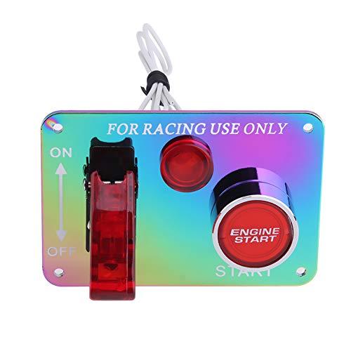 Ahomi de voiture coloré lumineux de voiture de course accessoire de démarrage du moteur Push Button Switch Panel