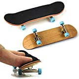 Pizies Professional Wood Mini Fingerboards Assembly Skateboard Scooter Fans Toy Gift Light Blue