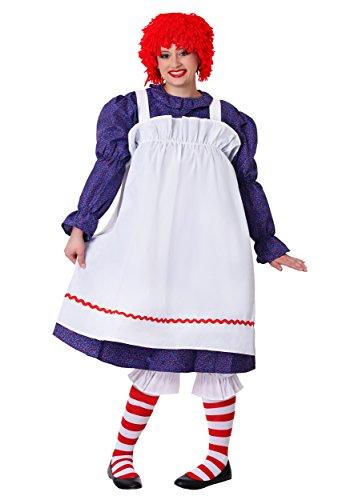 Fancy Dress Doll Rag Kostüm - Plus Size Classic Rag Doll Fancy Dress Costume 3X