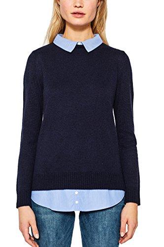 ESPRIT Damen Pullover 107EE1I013 Blau (Navy 400), Small