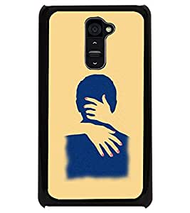 PRINTSWAG COUPLE HUG Designer Back Cover Case for LG G2