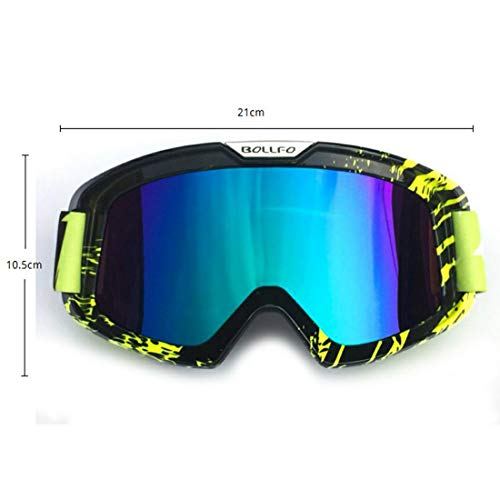 Sonnenbrille Anti-Fog-Personality Rahmen Erwachsener Motocross Goggles Dirt Bike ATV Motorrad Off Road Racing MX Riding Goggle UV-Schutz Staubdichtes Anti-Scratch-Downhill Motorrad Ski Snowboard Goggl -