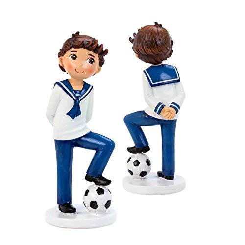 Son unos originales muñecos para tartas de comunión con el diseño de fútbol que tanto gusta a los niños. A tu hijo le hará mucha ilusión ver la tarta de su comunión decorada con la figura de un niño luciendo su traje de marinero sosteniendo un balón ...
