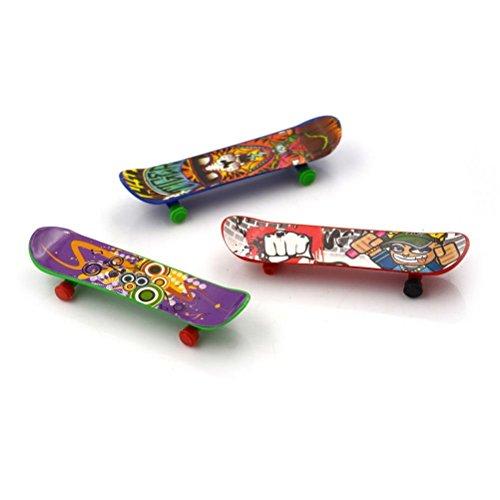 Tradico® 3Pcs Plastic Mini Finger Skateboarding Fingerboard Toys Skate Boarding Toys @