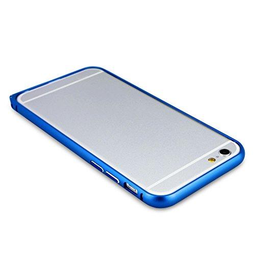 BoxWave Étui Quantum Coque pour iPhone 6-Aluminium Bumper, Premium métallique en alliage d'aluminium Coque fine-aucune perte de signal.-Bleu pour iPhone 6(Super)