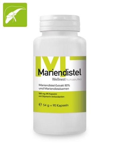 Wellnest Mariendistel Extrakt 500mg (90 Veggie-Tabs)