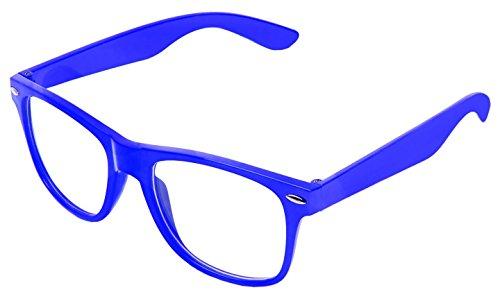 Sonnenbrille Nerdbrille retro Art. 4026 - Boolavard TM (Dunkelblau Klar)