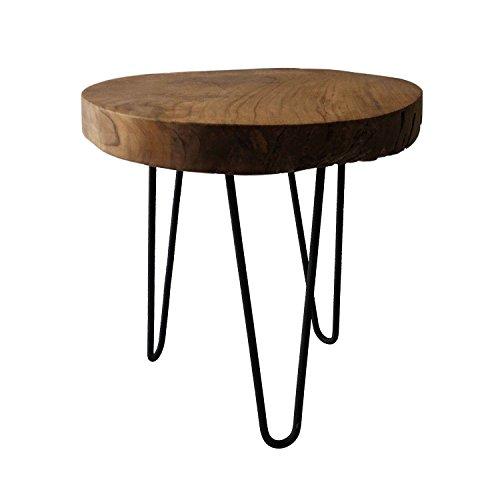 Table Basse en Teck Ronde