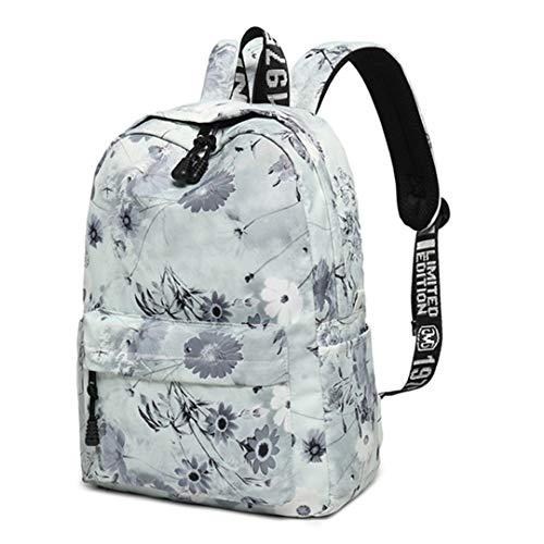 Mode Frauen Chinesischen Stil Druck Hohe Kapazität Schule Für Teenager Mädchen Rucksack Bookbag Reise Laptop Zurück Tasche Gray 29cmx15cmx43cm - Spade Kate Notebook-tasche