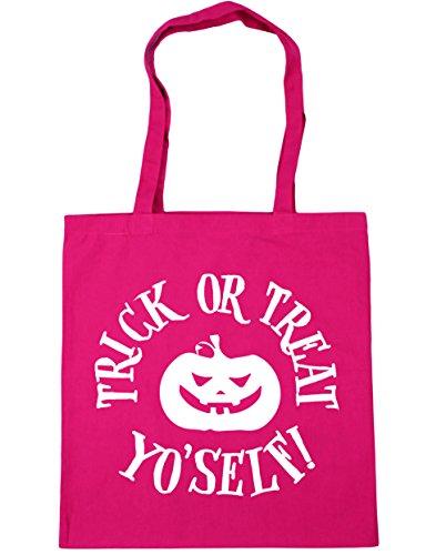 hippowarehouse Trick or Treat Yo 'Self. Tote Shopping Gym Beach Bag 42cm 3838, 10Liter Gr. Einheitsgröße, fuchsia